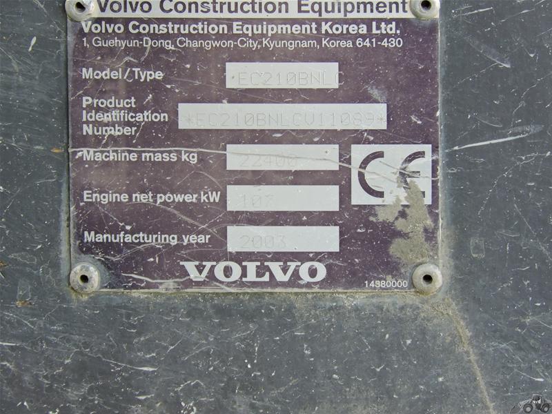 Volvo EC 210 BNL C