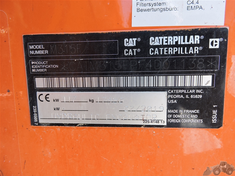Caterpillar 315 F